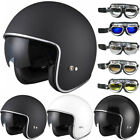LEOPARD LEO-601 Open Face Scooter Motorbike Motorcycle Helmet Drop Down Visor