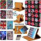 Universal 360� Rotating Stand Leather Wallet Card Case Cover 10 Android Tablets