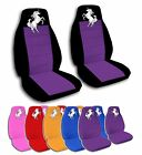 2 Front Unicorn Velvet Seat Covers with 16 Color Options