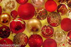 XMAS GOLD BAUBLES RED VINYL OILCLOTH WIPE CLEAN TABLECLOTH CO click for sizes