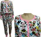 Womens Ladies Disney Minnie Mouse Cotton Onesie  All in One Pyjamas