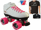 Riedell R3 2015 White Quad Roller Derby Speed Skates Free Riedell T Shirt & Bag