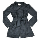 7 For All Mankind Silk Dress Cover Up Womens Coat Casual Jacket Grey S M L  V604