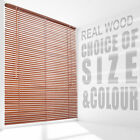 Wooden Venetian Blinds Slats Size for Home Bedroom Window Shade Brown White