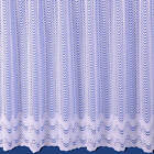 VIOLET NET CURTAIN - IN WHITE - SOLD BY THE METRE