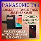 CALLER ID TABLE TALK CASE for PANASONIC T41 MOBILE FRONT & BACK FLIP FLAP COVER