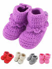 Unisex Newborn Infant Soft Warm Socks Bowknot Crochet Knit Boots Socks Shoes