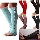 2015 New Lady Crochet Knitted Stocking Legging Warmer Boot Cover Lace Trim Socks