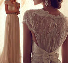 Sexy Vintage Lace Beach Bridal Gowns Romantic Wedding Dresses Custom Made