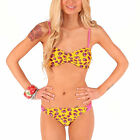 Iron Fist Scary Prairie Yellow Floral Sexy Summer Padded Bikini Beach Swim Wear