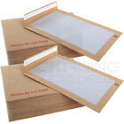 C4 A4 / C5 A5 HARD CARD BOARD BACK BACKED DO NOT BEND ENVELOPES MANILLA BROWN