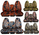 Front Rear 1994-2002 Dodge Ram 40/20/40 Camouflage Seat Covers Solid Rear Bench