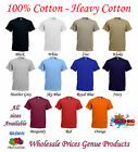 Fruit of the Loom Plain Heavy Cotton T- Blank Tee  Shirt Mens  all sizes