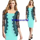 Spring Autumn Lace Women Sexy Bodycon Evening 3/4 Sleeve Party Sheath Dress Y797