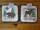 KAY DEE NORTHERN EXPOSURE LINE BEAR or MOOSE POT HOLDER PERFECT 4 CABIN or WOODS