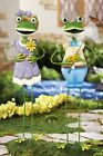 FROGGY COUPLE GARDEN STAKES SOLD INDIVIDUALLY FUN YARD DECORATION NEW IN BOX