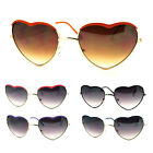Metal Color Heart Shaped Sunglasses Runway Trendy Shades