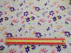 "Purple / pink Flowers Fabric / sold by the metre 44"" wide Polycotton"