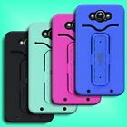 For Motorola Droid Turbo - Armored Hybrid Kickstand  Rugged Hard Soft Cover Case