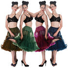 Sottogonna Hell Bunny, Donna, Lunga 63-68cm ,Tulle A Rete Vintage Anni 50 Swing