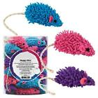 MOPPY MICE - Bulk Lots 24/48 Soft Moppy Fabric Sisal Tail Rattle Kitten Cat Toys
