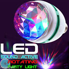 Colorful LED Bulb Crystal headed rotating disco blinking party light E27