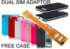 Dual SIM card adapter Flex with FREE SILICON CASE BUMPER COVER FOR iPhone 5 5S