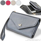 Smartphone Mobile Phone Case Cover Clutch Handbag Pouch Wristlet Faux Leather