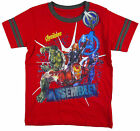 Boy's Marvel Avengers Assembled Red Crew Neck T-Shirt Top 4-8 yrs NEW