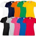 Fruit of Loom Ladies´s Sofspun® T Damen T-Shirt 5er Pack 100% Baumwolle 61414