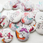 New 30/150pcs High Heel Shoes Wood Buttons 30mm Sewing Craft Mix Lots T0742