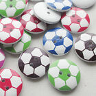 New 50/250pcs Football Wood Buttons 20mm Sewing Craft Mix Lots T0735