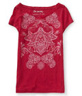 Aeropostale Womens Relaxed Paisley Paint Graphic T-Shirt