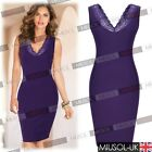 Womens Ladies Evening  Pencil Cocktail Prom Party Bodycon Formal Dresses  810246