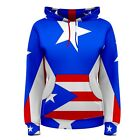 Puerto Rico Puerto Rican Flag Sublimated Women's Hoodie S,M,L,XL,2XL,3XL