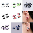 1 Pair 16G Fake Cheater coin Barbell Ear Stretcher Expander Plug Studs Earring