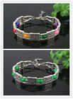 in 3 colors Fshion Charming Beads 2 lines Cuff Cool Retro Bracelet free shipping