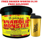 4KG ANABOLIC MONSTER WEIGHT MASS GAIN  WHEY PROTEIN POWDER SHAKE/DRINK MUSCLE