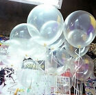 New 20/50/100Pcs Transparent Latex Balloons Birthday Wedding Party Decor 10""