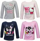 GIRLS MINNIE MOUSE HELLO KITTY LONG SLEEVE T SHIRT TOP 2 3 4 5 6 7 8 FREE P&P Q1