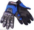 Blue Motocross Motorcycle Motorbike Carbon & Leather Off-Road Dirt Bike Gloves