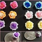 MAGNETIC Flower Stud Polymer Fimo Clay Clip on Fake Earrings Pick 1 Pair (MAG52)