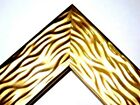 "2"" Wide Gold Wave Wood Canvas Picture Frame-Custom Made Panoramic Sizes"