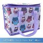 Owl Cupcake Bird Floral or Butterfly Insulated Lunch Bag For School Picnic