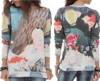 Disney Alice In Wonderland Sleeping Crew Tea Party Pull Over Jumper Size S M L