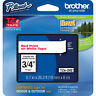 "Brother TZ242 TZe242 18mm 3/4"" inch red on white TZ tape P-Touch label PT1830"