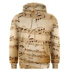 Music Notes Sublimated Sublimation Hoodie S,M,L,XL,2XL,3XL