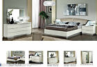 New Stunning Modern Lucio White Italian High Gloss Bedroom Furniture Range