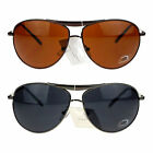 DQ Mens Classic Metal Rim Tear Drop Shape Police Officer Style Aviator Sunglass