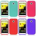 For Moto E LTE 2015 2nd Generation Thin Rugged Silicone Gel Cover Case